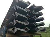 供应各类钢板桩包括U型,Z型,版型等几大系列三十余个规格的钢板桩产品
