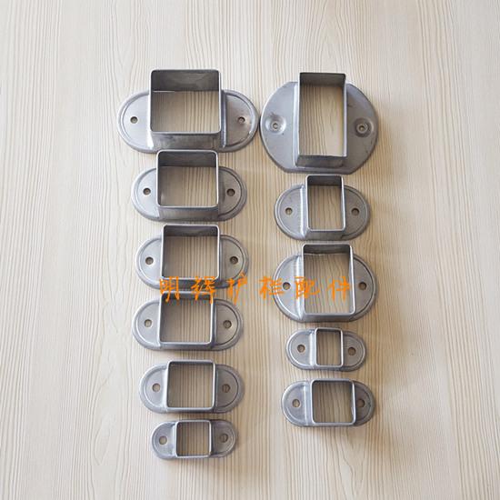 明辉铝艺配件护栏配件供应护栏配件立柱横栏固定座40阳台底座拉伸底座;