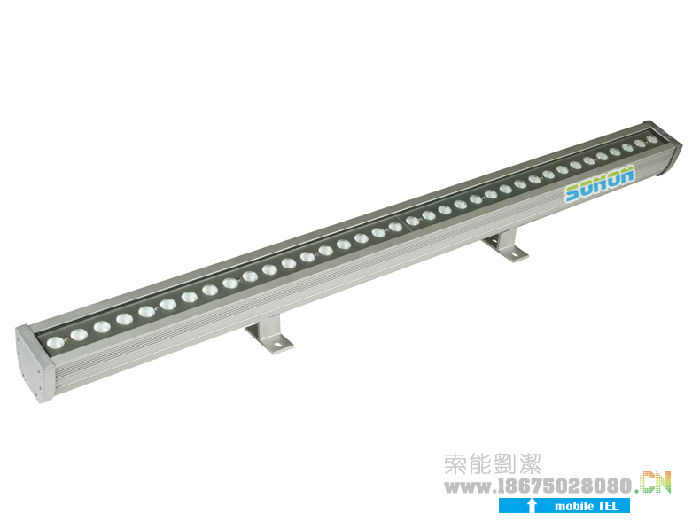 索能大功率铝条灯,压边防水LED洗墙灯,42W RGB;