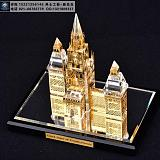 定做金属材质大楼模型,楼房封顶仪式留念礼品,项目纪念摆件