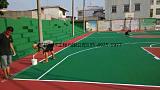 学校体育中心篮球场网球场硬性弹性丙烯酸EPDM硅PU地坪涂料及施工