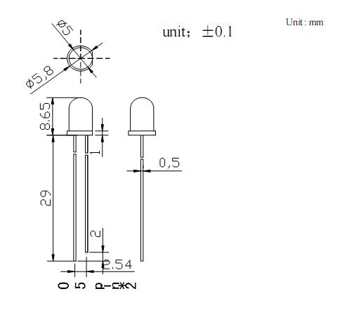 5mm红外线发射管;