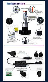 汽車led大燈改裝超亮射燈強光遠近12v24v貨車;