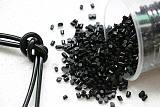 厂家直销软质pvc颗粒 黑色插头料 再生pvc注塑塑料颗粒;