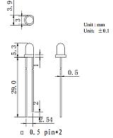 3mm直插红外线发射管;