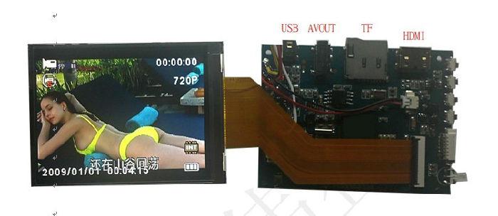 供应户外夜视仪3寸拍照录像液晶模块(可定制专用软件);