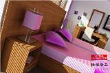 供應海南家具商務度假酒店室內裝修設計標間客房背景床屏單人床定做衣柜