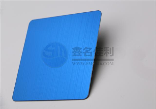 彩色不锈钢宝石蓝拉丝板 不锈钢宝石蓝拉丝板加工 不锈钢装饰报价;