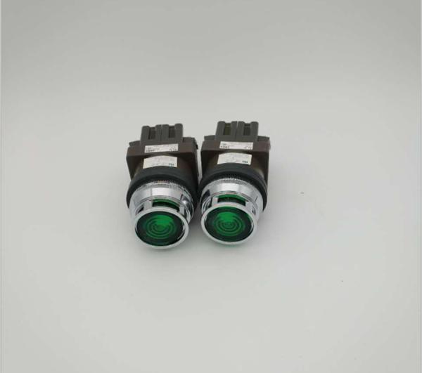 和泉IDEC 30mm带灯按钮ALFN22211DNG/R 24V自复位1开1闭;