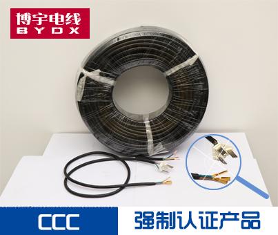 供应 护套线RVV3*0.75纯铜软护套 家用 电源线 插头线;