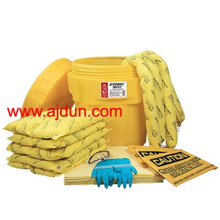 20加仑泄漏应急处理及附桶套装/化学品泄漏吸附套装;
