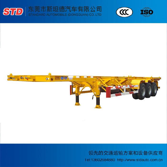 广东40英尺三轴骨架车厂家直销;