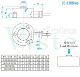 压缩机检测力传感器,60KN冲击力传感器