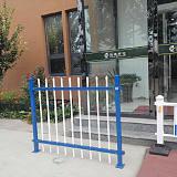 蓝白/绿白/黑色锌钢护栏现货1.0 /1.2/1.5/1.8米高;