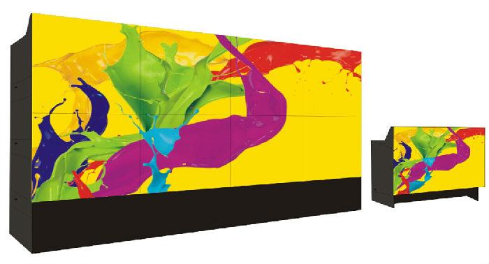 67寸DLP背投激光光源高清 DLP大屏幕边缘融合技术有哪些优点?;
