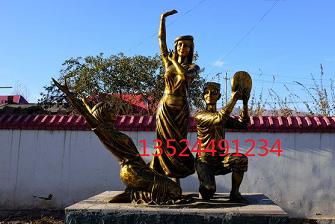 少数民族文化雕塑景观浮雕墙
