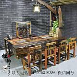 老船木餐桌实木餐桌客厅餐桌椅组合家用餐台饭桌餐厅饭店餐桌家具;