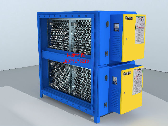 厂家直销圆筒蜂窝型高效静电低空油烟净化器