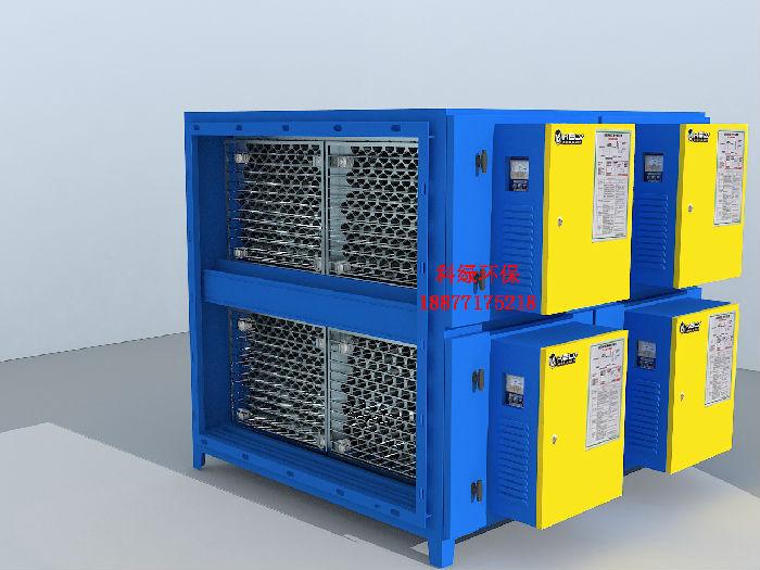 厂家直销圆筒蜂窝型高效静电超低空油烟净化器