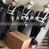 广东玻璃钢仿真警察制品厂丨交通模拟假警察丨高速路警示模型;