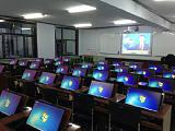 供应边框翻转电脑桌 学生课桌机房翻转桌