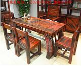 原生态家具老船木茶几客厅接待沙发配套实木炕几功夫茶桌现代中式;