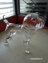 哈巴狗造型玻璃酒瓶拉布拉多造型玻璃酒瓶創意空心狗造型白酒瓶;