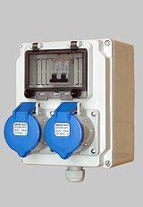 户外工业防水组合 电源检修箱 16A防水双插座隧道检修箱