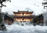 古建寺庙道观建筑设计;