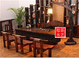 老船木家具电磁炉茶台,船木翘头茶台船木龙骨茶桌;