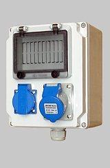 定做塑料壳便携式电源检修箱 手提式组合插座箱