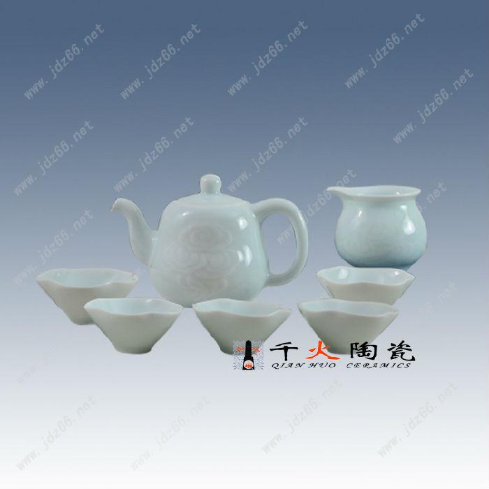 景德镇高档手绘礼品茶具套装批发厂家手绘茶具图片