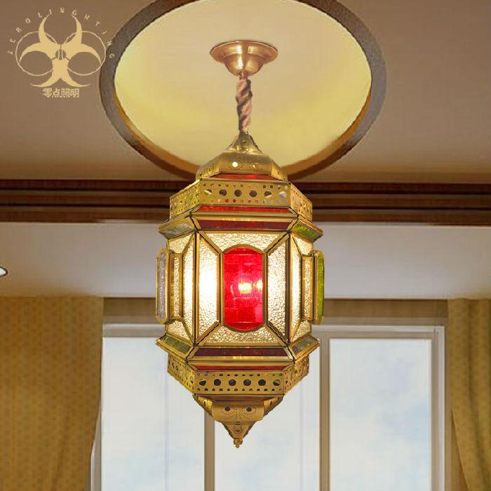 供应彩色玻璃卧室餐厅大吊灯卧室客厅纯铜吊灯欧式镂空全铜灯D6038