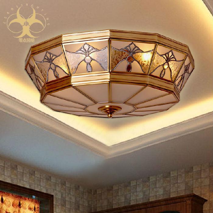 供应LED吸顶灯全铜欧式客厅灯美式餐简约阳台灯房间卧室灯具X3067
