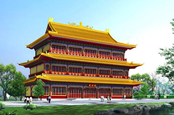 山东钢结构仿古工程专业设计 制造 安装仿古钢结构工程十余年施工经验