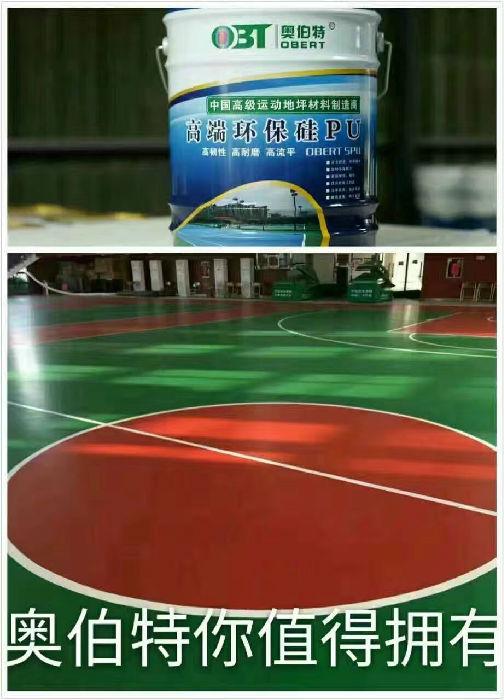 硅PU 丙烯酸球场 塑胶跑道