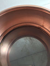 直径18cm铜电磁火锅 传统火锅 紫铜火锅 纯手工电磁炉铜火锅