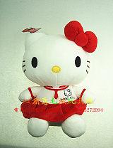 广东毛绒玩具厂家定做kt猫毛绒玩具;