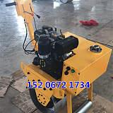 汽油柴油压土机 手扶式单轮轧道机压实机施工灵活方便;