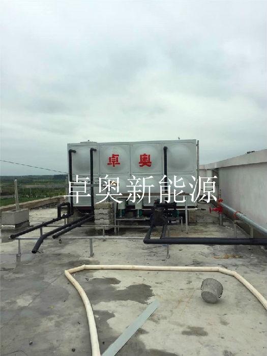 安徽滁州科隆電器平板太陽能加空氣能熱水工程