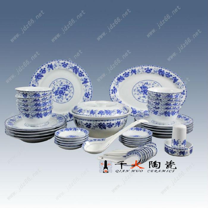 景德镇手绘骨质瓷餐具套装批发价格,高档礼品餐具图片