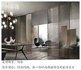 极简氟碳黑铝合金窄边框钢化玻璃吊趟门
