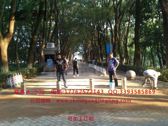 咸宁学校阻车升降路桩 遥控升降路桩 单位大门挡车路桩 一体式电动升降