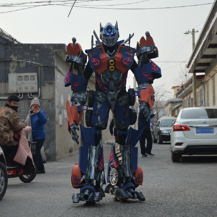 天津博创恒达厂家出租销售真人穿戴变形金刚服装道具舞台演出创业