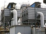 山东玻璃厂除尘器改造现场图、专业设计玻璃厂除尘设备改造方案;