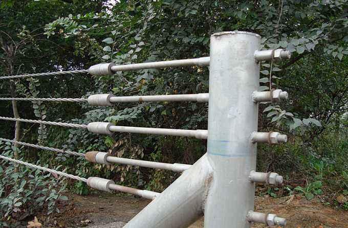 山东专供山区绳索护栏,镀锌五索护栏板,钢丝护栏板