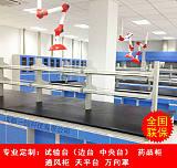 江油地区批发中央台 钢木实验台 器皿柜成套设备实验台厂家直销