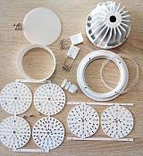 2.5寸防水LED筒灯外壳配件