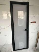 佛山定制极简时尚环保钢化玻璃室内门;