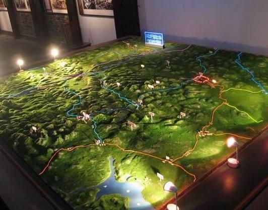 浅析不同沙盘模型中的绿化景观差异